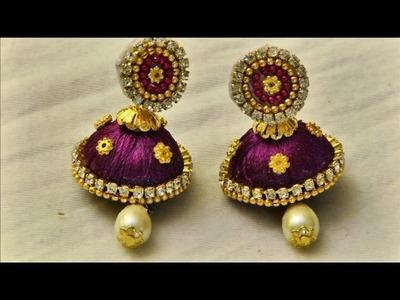 Silk thread earrings beautiful unique