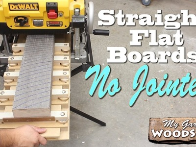 Straight, Flat Boards, No Jointer!!!