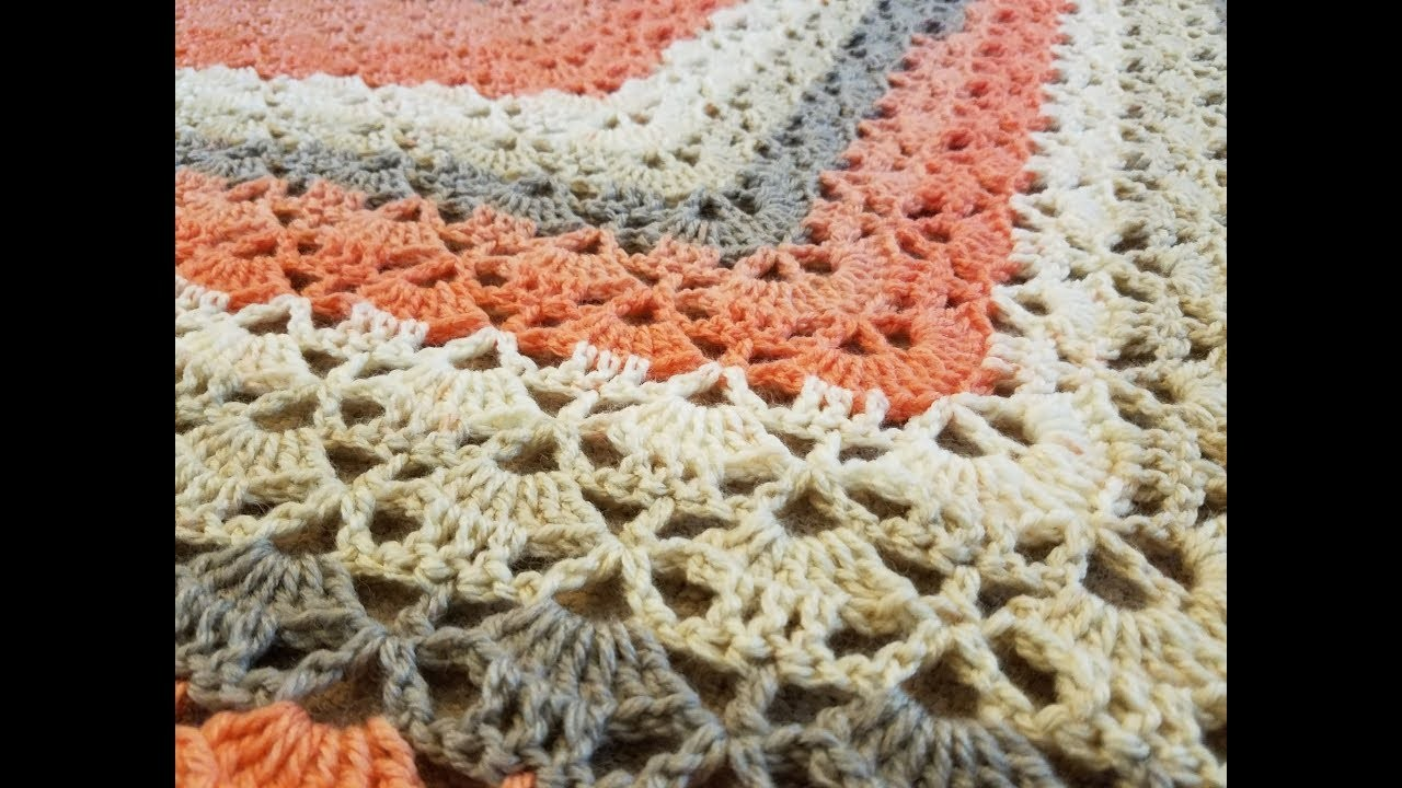 The Cloister Shell Shawl Crochet Tutorial My Crafts And