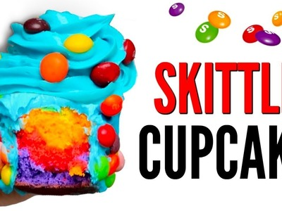 THE SKITTLES CUPCAKE DIY | How To Candy Cupcakes