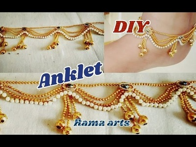 Trendy Anklets - How to make Anklets | jewellery tutorials