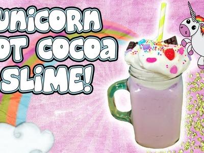 Unicorn Hot Chocolate SLIME! Kawaii Homemade Slime! Doctor Squish