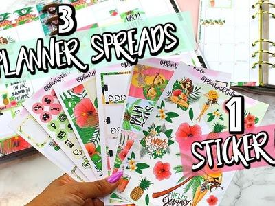 3 Planner Spreads, 1 Sticker Kit!!! | Plan With Belinda
