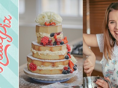 3-Tier Homemade Naked Wedding Cake Recipe with Cath Kidston | Katie Pix