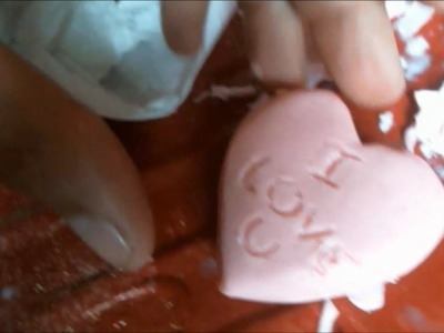 39. How to carve in soap Heart sculpture