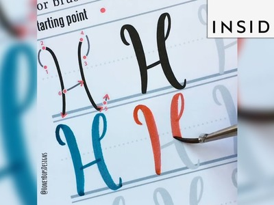 A watercolor book lets you master the art of lettering