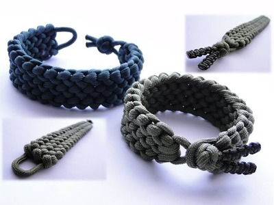 Conquistador Paracord Bracelet Without Buckle by CbyS Paracord and More.Diamond Knot and Loop