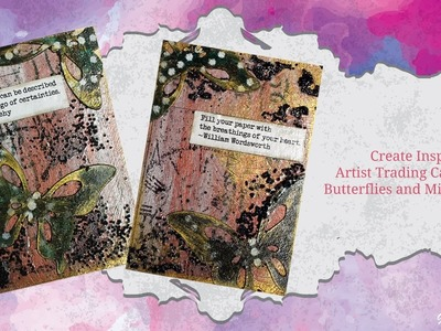 Create Inspirational ATC's with Butterflies and Microbeads