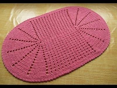 Crochê tapete Rosa antigo