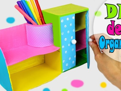 DIY DESK ORGANIZER MULTIFUNCTIONAL FROM CARDBOX EASY TUTORIAL