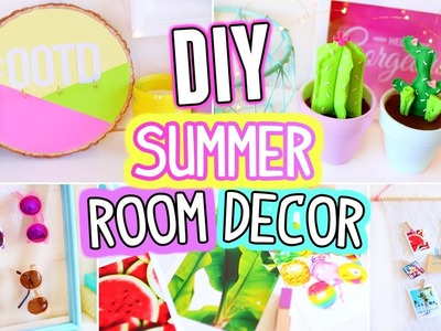DIY Room Decor For Summer!! Easy & Fun 5 Minutes Crafts!!