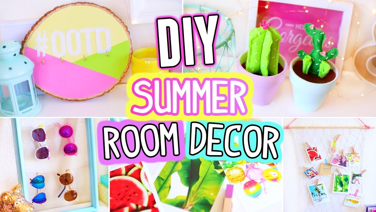 Diy room decor for summer easy fun 5 minutes crafts for Fun and easy diys
