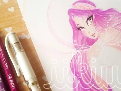 Elemental Ladies Series: Love (#9) -Watercolor Speedpaint ♡ iiKiui