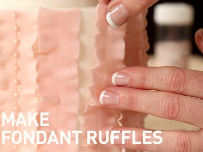 Fondant Ruffles on a Cake | Cake Decorating Tutorial with Jessica Harris