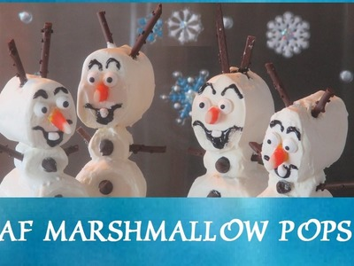 FROZEN - Olaf Marshmallow Pops! Do you want to build a snowman? Inspired by Disney Frozen Movie