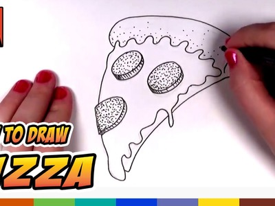 How to Draw a Pizza Slice for Kids - Cartoon Pizza! Art for Kids | CC