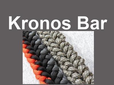 How to make a Kronos Bar Paracord Bracelet Tutorial (Paracord 101)