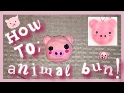 HOW TO MAKE A PUNI MARU ANIMAL BUN SQUISHY OUT OF A CRUSH BALL!