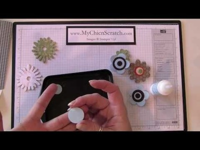 How to make flower magnets and faux brads