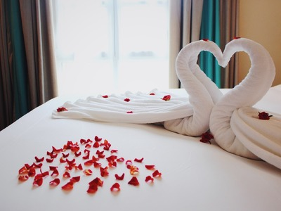 How to make swans by towels