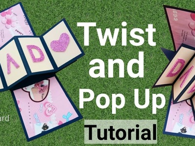 How to make Twist and Pop Up Card | Friendship day card ideas | Raksha bandhan Card | Diy card |