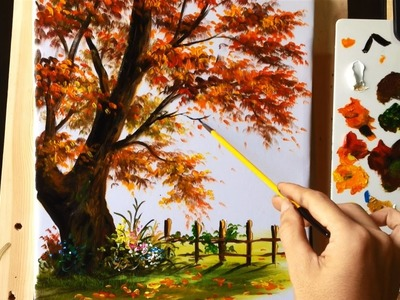 How to Paint a Tree with Acrylic Lesson 8