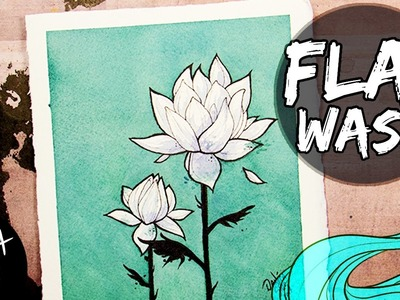 How to Paint Flat Washes ♦ Beginner's Watercolor Tutorial ♦ Two Lotus