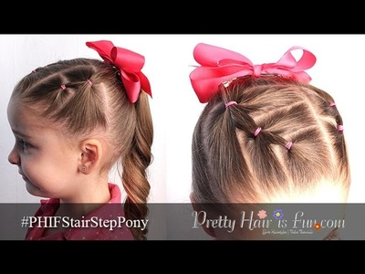 How To Toddler Hair: Stair Step PonyTails | Pretty Hair is Fun