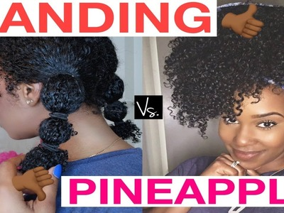 I WILL NEVER PINEAPPLE MY NATURAL HAIR AGAIN!   The Banding Method