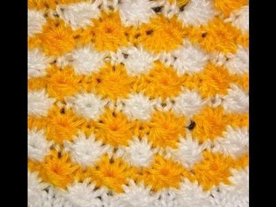 Knit Pattern हिंदी. बुनाई डिजाइन - 33 * 2 Color FLOWER EASY *