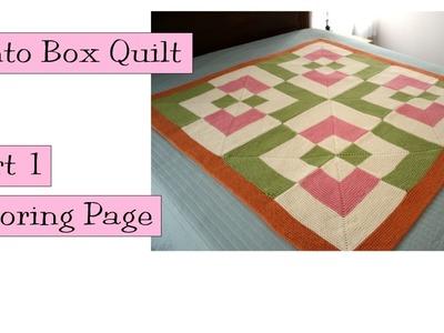 KPC Bento Box Quilt, Part 1, Coloring Page