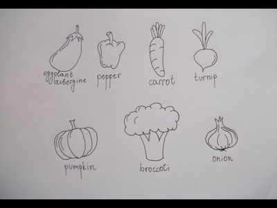 Learn to draw 7 different vegetables [SUPER EASY] | Tutorial
