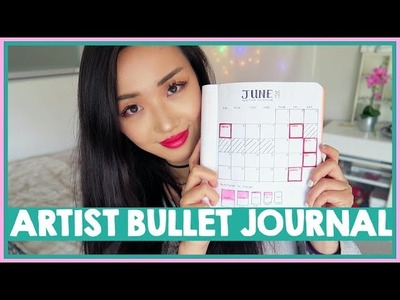 My artist bullet journal. TUTORIAL & TIPS