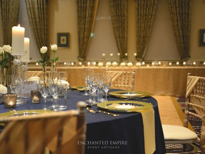 Navy and Gold Wedding Theme, styled by Enchanted Empire, Event Artisans