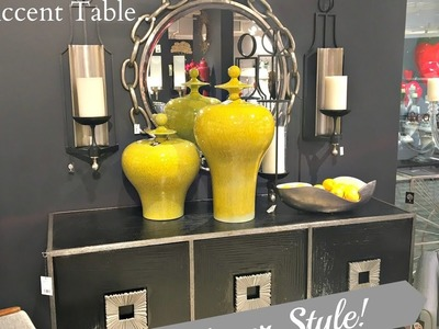 NEW! 5 Ways to Decorate An Accent Table. DESIGNER STYLE!