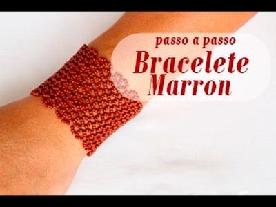 NM Bijoux - Bracelete Marron - passo a passo