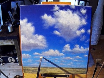 Painting Simple Clouds - Acrylic Painting Lessons preview by nagualero - www.nagualero.com