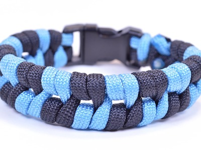 "Paracord Bracelet ""Barbed Wire"" Design - How To Video - BoredParacord"