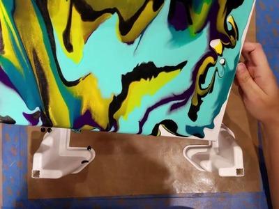 """Pouring Medium On A Canvas """"Cosmos"""""""