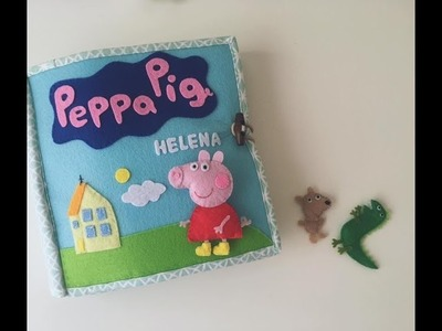 Second quiet book for my daughter (Peppa pig version)