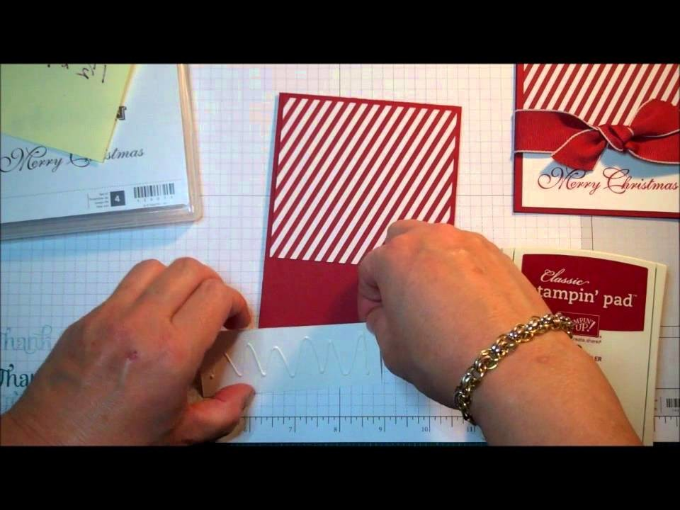 Stampin' Up! Quick Card:  Merry Christmas and Thank You