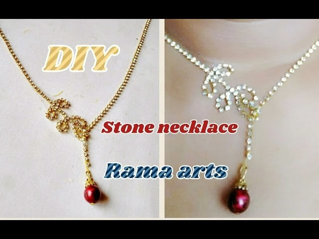 Stone necklace - How to make necklace | jewellery tutorials