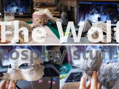Tutorial/Handmade COSPLAY STUFF - THE WOLF MASK & EARS (大灰狼面具+毛毛狼耳)