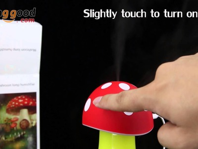 USB Aroma LED Mini Mushroom Humidifier Air Purification - Banggood.com
