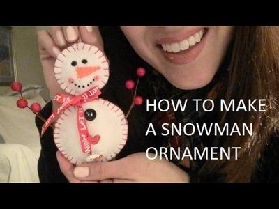 ASMR: Making a Felt Snowman Ornament | Holiday Crafts