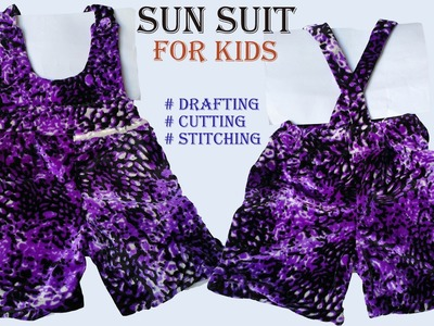 Baby Sun Suit dress drafting, cutting and stitching step by step tutorial