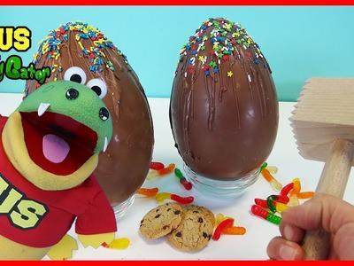 BASHING GIANT CHOCOLATE KINDER SURPRISE EGGS Peppa Pig PJ Masks! DIY Kinder Eggs