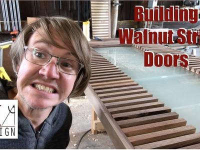 Building Walnut Strip Doors. Woodworking How To