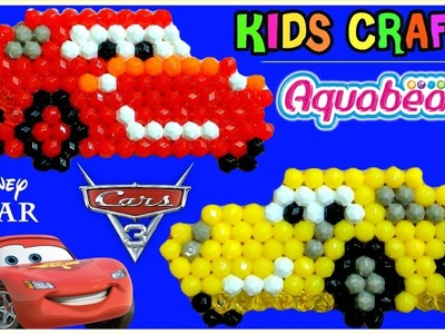 CARS 3 Aqua Beads Like Beados Lightning McQueen & Cruz Ramirez Disney Pixar Simple Craft Playset