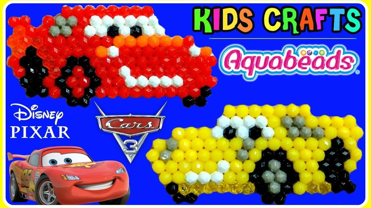 CARS 3 Aqua Beads Like Beados Lightning McQueen & Cruz Ramirez Disney Pixar Simple Craft Playset